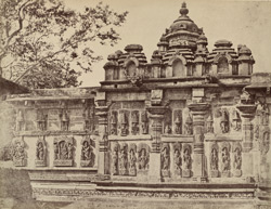 Temple at Belloor. Nachyar Temple in the Court. [Chennakeshava Temple, Belur.]
